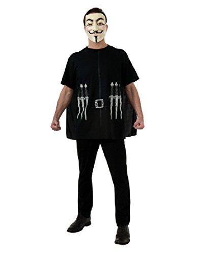 V For Vendetta Costume Kit, multicolor, Standard -
