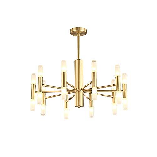 BOKT Post Modern Lighting 20-Light Hanging Chandelier Lighting Island Frosted Glass Lampshade G4 Lamp Socket led Lights…