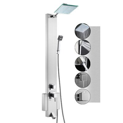 Shower Panel Tower Unit Finish: Stainless Steel