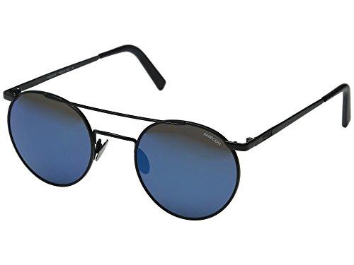 Randolph Unisex P-3 Shadow 49mm Matte Black/Blue Sky Flash Mirror Lens Sunglasses