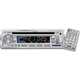 Pyle Plcd3mr 160w Marine Cd Mp3 Receiver With Usb Sd And Aux Input & Remote