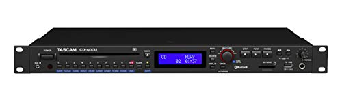 Tascam CD-400U Rackmount CD/Media Player with Bluetooth Wireless and AM/FM Receiver (Tascam Rack Mount Am Fm Stereo Tuner)