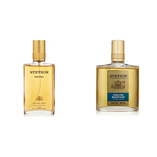 Stetson Original Cologne Spray for Men by Stetson 2.25 Fluid Ounce Spray Bottle The Classic Rich with Aftershave, 3.4 Fluid Ounce