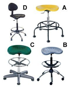 - Smo Seating, The Sitstar Stool, H7600Cb, Ltr. No.: C, Description: Sitstar Welded Foot-Ring Stool, Seat Ht. Adj.: 27-34