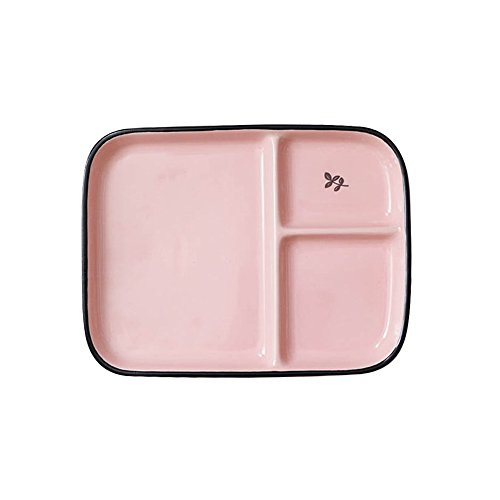 FLYING BALLOON Sweet Color Rectangular Ceramic Divided Plate Dinner Plates/ Luncheon Plates/ Salad Plates/ Dishes Best Gift for Kitchen for Kids