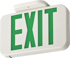 EXG LED M6 Green Letter White Housing Contractor Select LED Exit Sign
