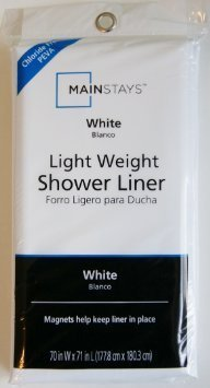 Mainstays Light Weight PEVA Shower Liner Collection