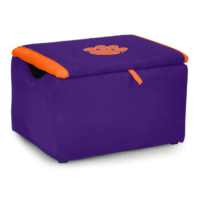 Kidz World Upholstered Storage Bench Toy Box Clemson University by Kidz World