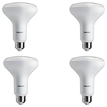 Philips LED 459552 Bulb: 650-Lumen, 2700-Kelvin, 9, E26 Flood Light 4 Pack, 65 Watt Equivalent, Soft White (2700K) BR30 Dimmable, Medium Screw Base