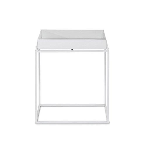 Hay Tray Table Small Weiss Metall Pulverbeschichtet Couchtisch