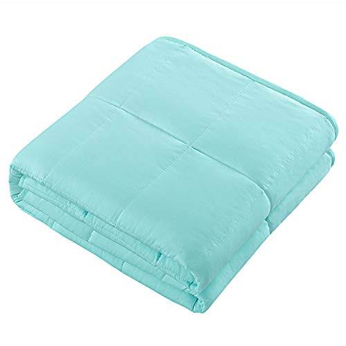 SUNTQ Supper Cooling Weighted Blanket for Adults and Kids, Cold to Touch 100% Polyester Cotton Face, with Glass Beads, 15 lbs 60x80inch, Relaxation Gifts, Good for Anxiety Relief