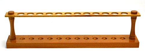 Eisco Labs Premium Wooden Test Tube Rack, (12) 22mm Holes, 16.75
