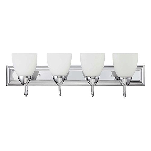 Luminance F3624-15 Traditional 4 Incandescent Light Vanity Fixture with Chrome Plated Finish