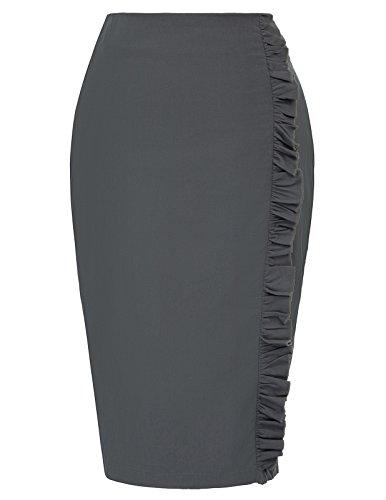 Kate Kasin Women's Bodycon Career Office Pencil Skirt Knee Length Size XL KK922-2 (Career Skirt)