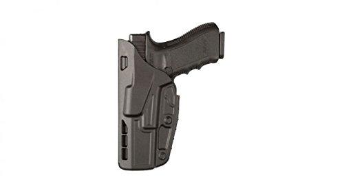 Safariland 7378 7TS ALS Concealment Holster, Flex-Paddle & Belt Loop Combo, Glock 19, 23, 32, SafariSevenit Plain Black, Left Hand (Left Hand Paddle Holster)
