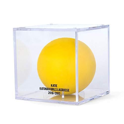 (ChalkTalkSPORTS Personalized Square Acrylic Display Case   Girls Lacrosse Ball Holder   Single)
