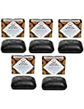 Nubian Heritage African Black Soap With Shea Butter Oats and Aloe Deep Cleansing 5 Oz (5 Pack)