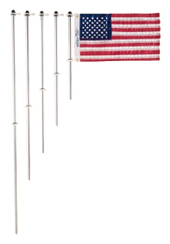 Taylor Made Products 915 Aluminum Boat 3/4-Inch Flag Pole With Charlevoix Clips (18-Inch) ()