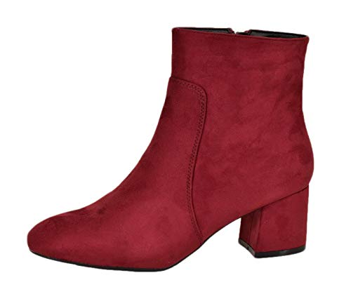 Emma layla Rosso A Collo Alto Shoes Donna burgundy Eu 39 qYwqr6x