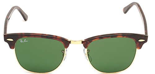Ray Ban Sunglasses Clubmaster 3016 (49 mm, Solid Black - Ban Size Clubmaster Ray 49