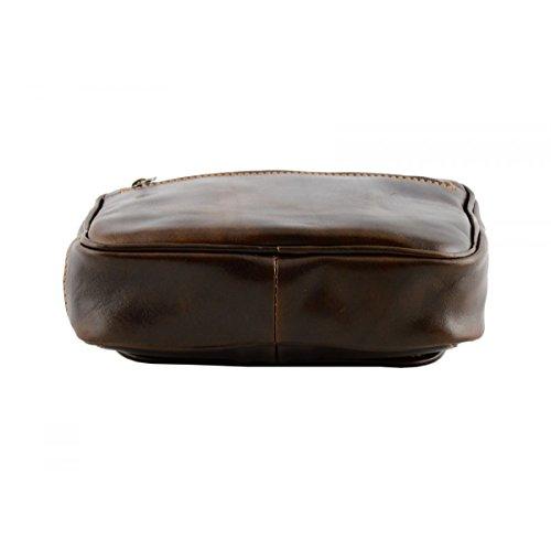 Echtes Leder Clutch Für Herren Farbe Dunkelbraun - Italienische Lederwaren - Herrentasche