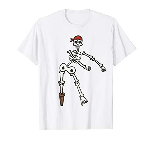 Floss Dance Skeleton Pirate Shirt | Halloween Flossing