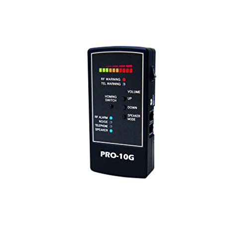 Spytec Pro-10G Small and Portable Bug & Wiretap Detector with Detection for Analog & Digital Devices Up to 40 ()