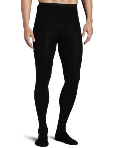 All Black Dance Costumes (Capezio Men's Knit Footed Tights , Black, Small)