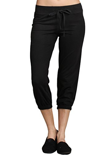 Ever77 Women's Athleisure Cropped Jogger Sweat (Capri Sweats)