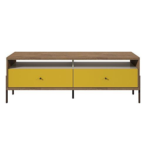 Manhattan Comfort 350673 Joy Series Tv Stand, Yellow/Off-White