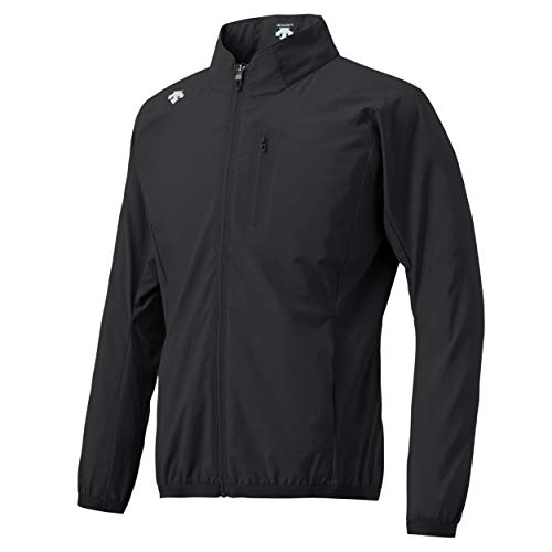 Descente Men's Water Repellent Windbreaker Jacket with Hood Black