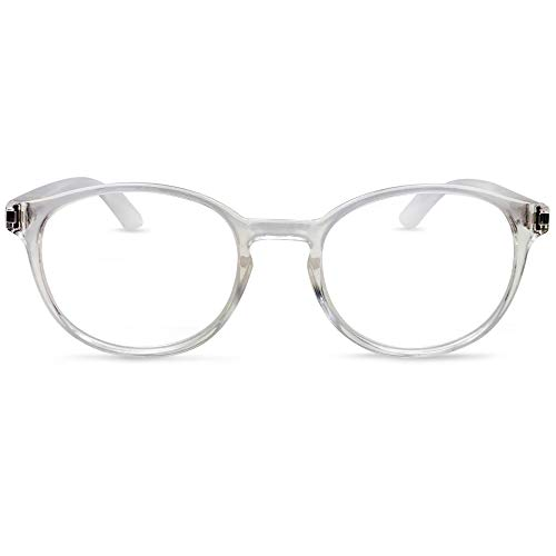 In Style Eyes Opulent Oval Clear Frame Reading Glasses Set with Case Clear +1.50