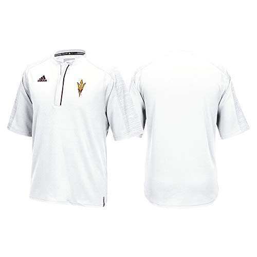 adidas Arizona State Sun Devils NCAA Men's White Sideline Climalite 1/4 Zip Knit Shirt