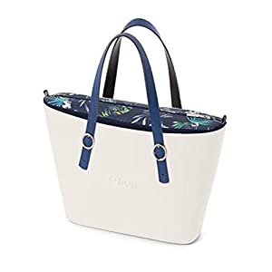 OBAG Borsa o bag urban bianco sacca interna japan blu navy manico fibbietta blu 26