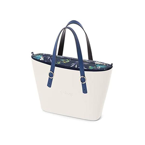 OBAG Borsa o bag urban bianco sacca interna japan blu navy manico fibbietta blu 1