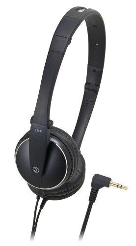 Audio Technica Aluminum Lightweight Headphone (Audio-Technica ATH-ES33BK Foldable On-Ear Headphones - Black (Discontinued by Manufacturer))