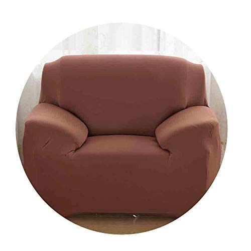 ZFADDS New 1/2/3/4 Seater Sofa Cover Spandex Modern Elastic Polyester Couch Slipcover Chair Furniture Protector,Brown,Three Seater (Furniture Nz Covers Outdoor)