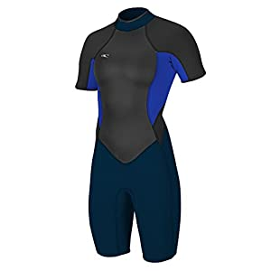 O'Neill Women's Bahia 2/1mm Back Zip Short Sleeve Spring Wetsuit