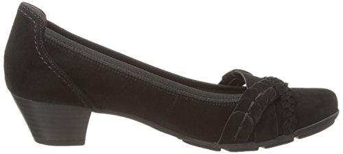 Gabor Tyne - punta cerrada de cuero mujer negro - negro (negro ante)