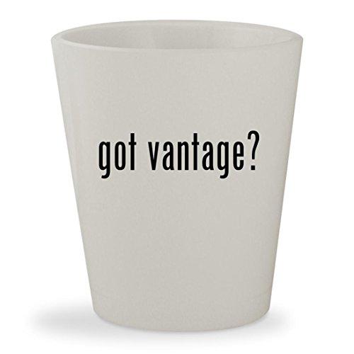 got vantage? - White Ceramic 1.5oz Shot Glass