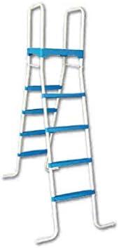 Piscinas Toi 4876 Escalera de 8 peldaños para Piscinas Desmontables, Blanco, 130x72x140 cm: Amazon.es: Jardín