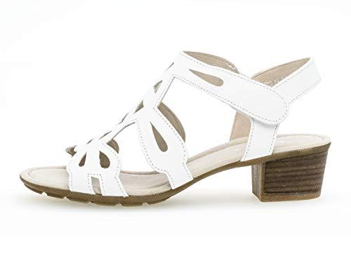 24 Weiss Mujer 561 Verano Tacón Alto Gabor De sandalia zapatos sandalias tacón Tfxqxwd