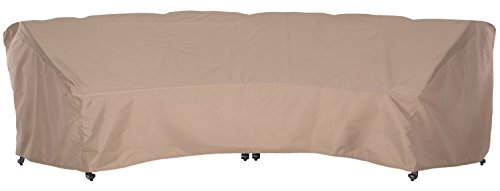 SunPatio Outdoor XL Crescent Curved Sofa Cover, 190