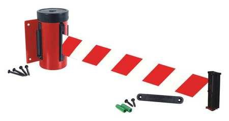 Retractable Belt Barrier, 10 ft., Red