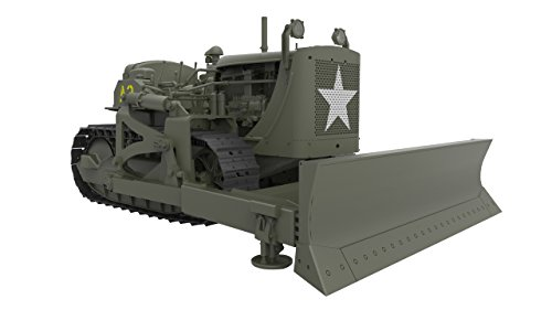 MiniArt Models U.S. Army Bulldozer Model Kit (1/35 Scale) - Model Bulldozer