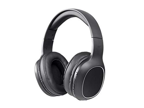 Monoprice BT-200 Bluetooth Over Ear Headphone - Black | Lightweight, Designed for Comfort, On Ear Controls & Built-in Microphone