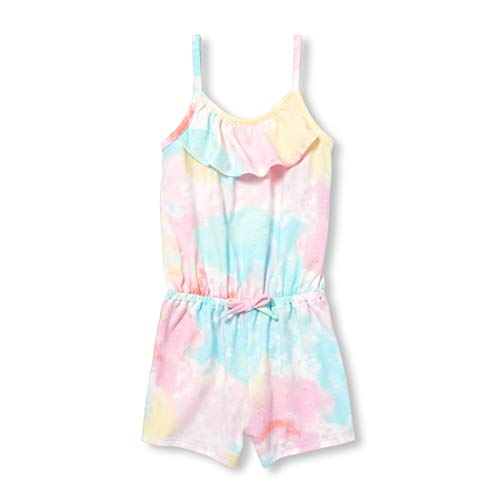 (The Children's Place Baby Girls Printed Sleeveless Ruffle Romper, Charisma, 12-18MOS)