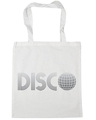 HippoWarehouse Disco bolsa de la compra bolsa de playa 42cm x38cm, 10litros blanco
