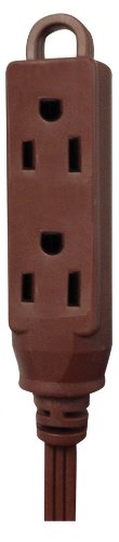 Voltec Industries 01-00012 8-Feet Triple Outlet Household Extension Cord, Brown