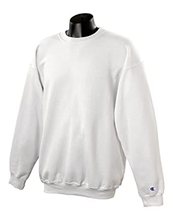 Amazon.com: Champion-50/50 Crew Sweatshirt - 9oz. (08c)~White ...